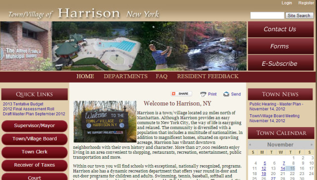 The Town of Harrison's new website launched Thursday.