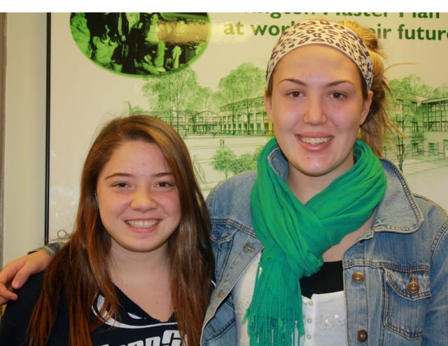Irvington High School seniors Brittni Lai, left, and Alexis Martins are ready to commit to colleges.