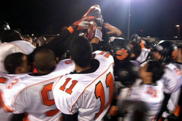 The Tuckahoe High School football team will try to add to its state title collection Friday.