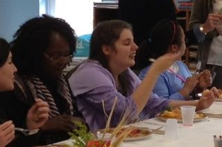 Students from Pierre Van Cortlandt Middle School and Carrie E. Tompkins Elementary School celebrated Thanksgiving this week.