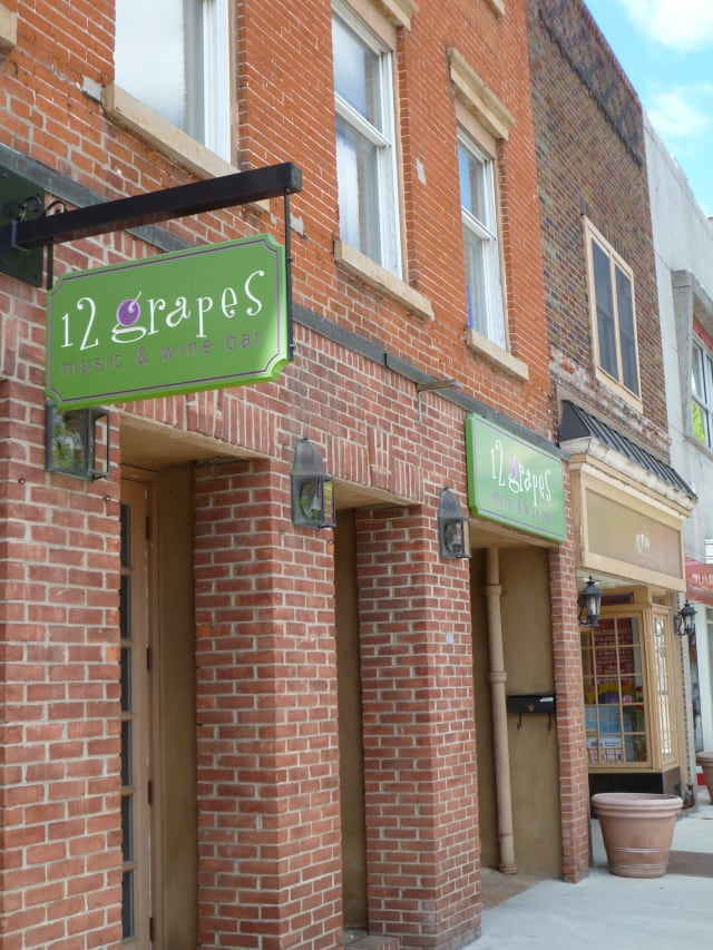 12 Grapes will host a wine tasting Thursday with live music from Jon Corbert.