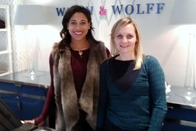 Nicole Harris and Heidi Price of Wallin & Wolff in Rye are happy with the support they received from the community on Small Business Saturday.