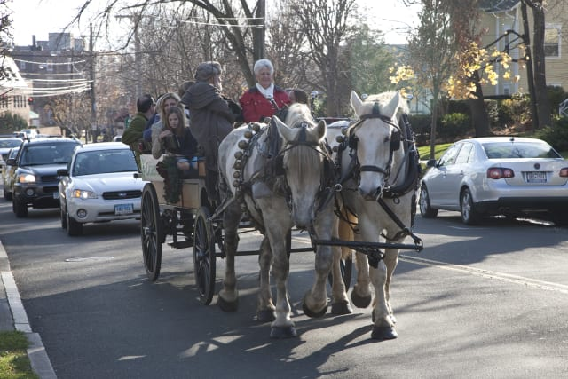 Horse-drawn carriage rides will be one of many features in the fourth annual Greenwich Holiday Stroll Weekend.