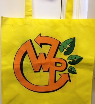 White Plains High School student Max Crawley designed the logo for the city's new reusable shopping bag.