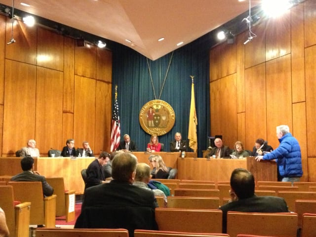 Residents addressed the Scarsdale Board of Trustees on Tuesday.