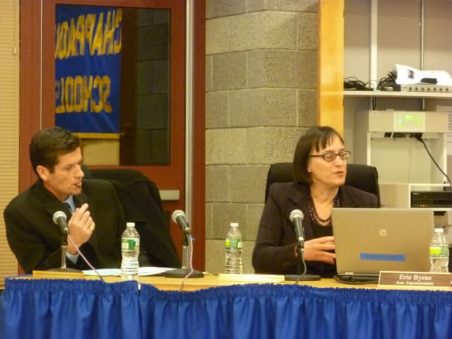 Chappaqua middle school principals Martin Fitzgerald and Martha Zornow said there is room for improvement with the new schedule.