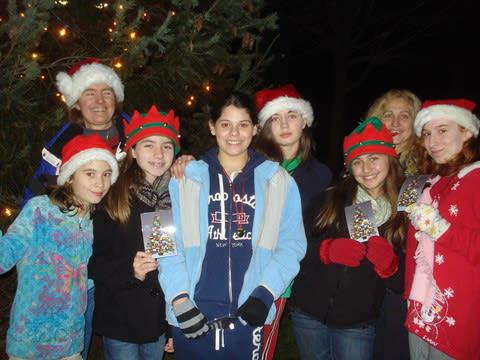 Hundreds attended 2011's Christmas tree lighting in Yorktown