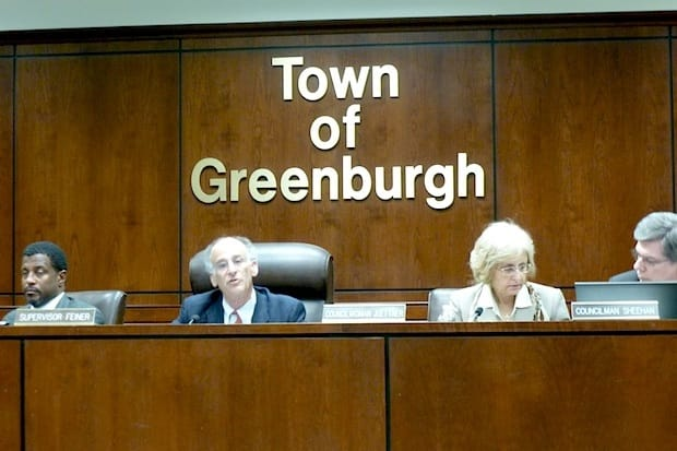 Greenburgh Town Supervisor Paul Feiner, second from left, hopes to choose a tenant for the old WestHELP site in the next few weeks.