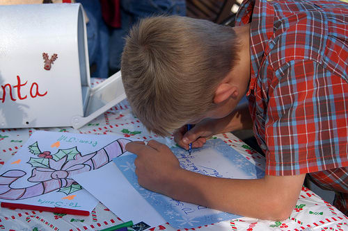 Millions of kids each year write letters to Santa Claus, this year several needy children will have theirs answered by his helpers.