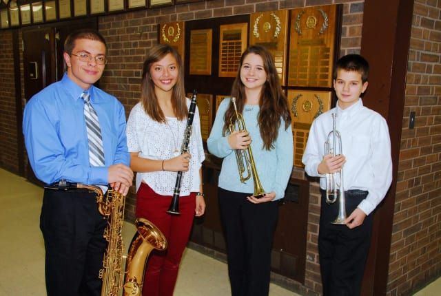 Port Chester students Anthony Pellegrini, Emmalie Tello, Isabella Roca and William Brakewood were selected to play in the New York State Band Directors Association Honor Bands.