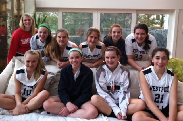 The Westport PAL eighth-grade girls' basketball team finished 4-0 in its first tournament of the season.