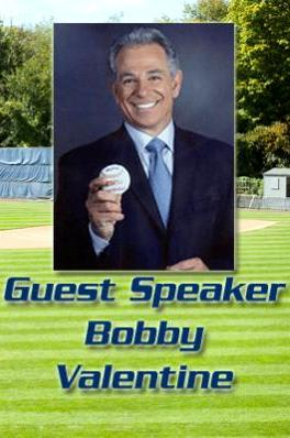 Former New York Mets and Boston Red Sox manager Bobby Valentine will headline the Pace Baseball dinner in January.