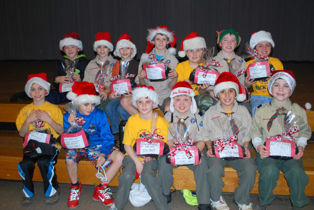 Vista Cub Scouts Den 3, front row, l-r, Tyler Wallach, Christian Maresca, Sean Sexton, Logan Aceste, and Nick Pellaza. Back row, l-r, Ryan Parker, Phillip Galgano, Anton Kletner, Jack O'Reilly, Paul Rossi, Ethan Jackson and Timothy Cronin.