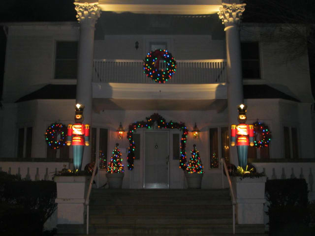 Pelham is decorated for Christmas.