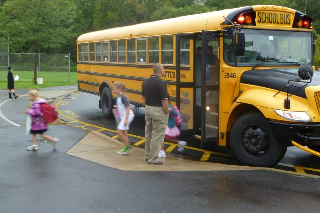 Teachers at New Canaan Public Schools get their students back in a normal routine on Monday, the first day since a school shooting incident an elementary school shooting in Newtown.