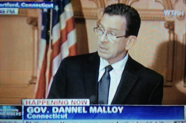 Gov. Dannel Malloy said federal guns laws should be strengthened in the wake of the Newtown school shootings.