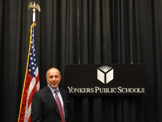 Yonkers Superintendent of Schools Pierorazio met with various officials to discuss and review school safety and district coordination with the Yonkers Police Department.