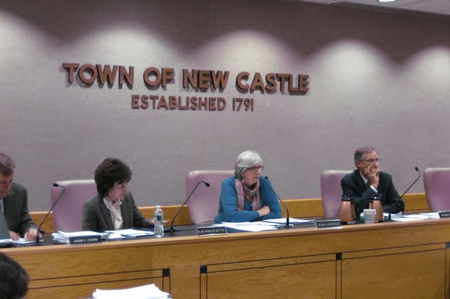 The New Castle Town Board addressed last week's Newtown, Conn., school shootings in a statement sent to residents Tuesday.