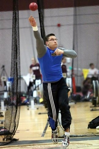 Monroe College shot putter Tautvydas Kieras qualified for the NJCAA national meet in Texas in March.