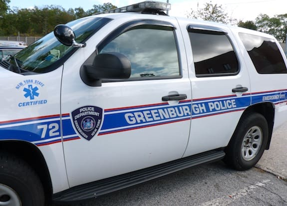 Greenburgh police have charged two people and are still looking for a third suspect in a series of thefts.
