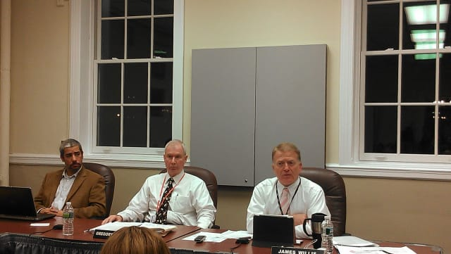 Peekskill school officials and school board trustees discussed school safety with the public Tuesday night.