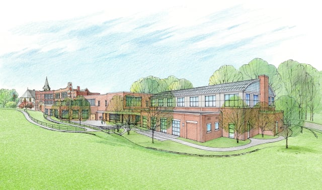 An artist's rendering of what the Immaculate Conception Gym will look like in Tuckahoe.