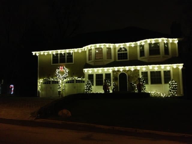 There was no shortage of Christmas decorations around Eastchester and Scarsdale.