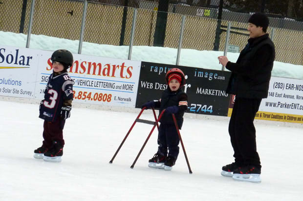 Take the family ice skating this weekend at the Westport Police Athletic League ice rink at Longshore.