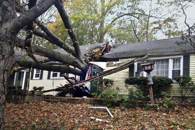 Hurricane Sandy caused substantial damage throughout Darien.