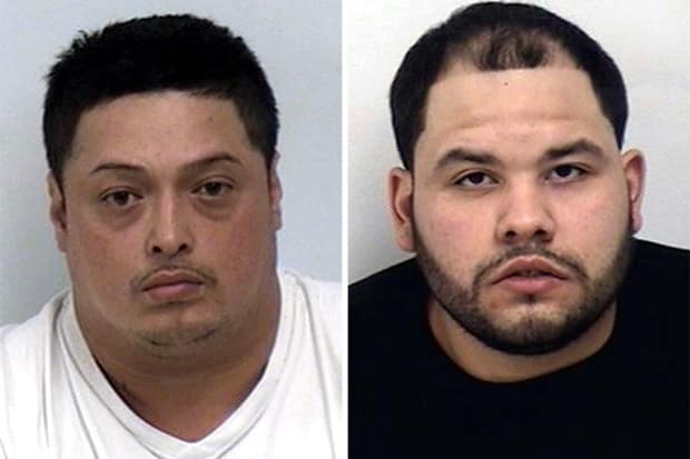Bronx resident Oswaldo Ponce, left, and Javier Camillo were arrested by Westport Friday afternoon and charged with having fraudulent credit cards.