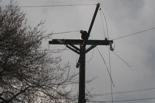 The National Weather service cautions high winds may result in fallen power lines, making a power outage possible.
