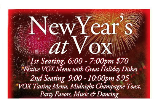 A number of North Salem restaurants are offering special New Year's Eve menus.