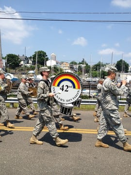 The 42nd Infantry Division marches in the New ROchelle Memorial Day Parade