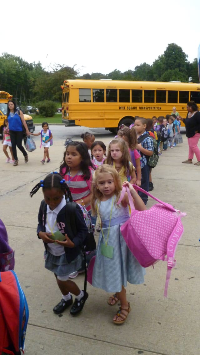 This year saw a rise in the number of kindergarteners at Woodside Elementary School.