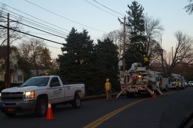 Consolidated Edison crews worked for weeks to restore power in Harrison after Hurricane Sandy struck on Oct. 29.