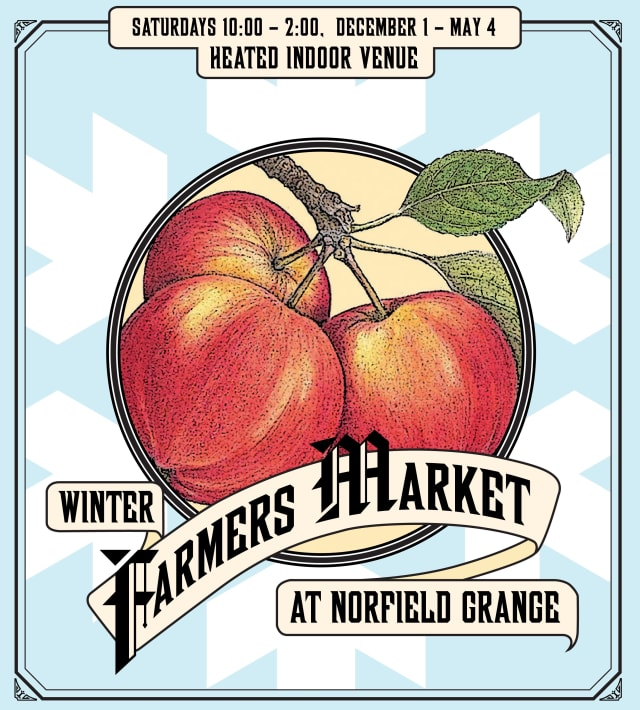 Stock up on farm fresh produce, baked goods, crafts and more at The Winter Farmers Market at Norfield Grange Saturday from 10 a.m. to 2 p.m.