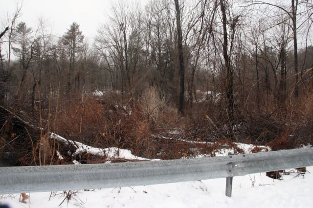 The incident occurred in the woods near the Brewster Ice Arena.