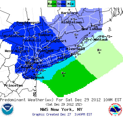 Snow is likely on Saturday for Westchester County.