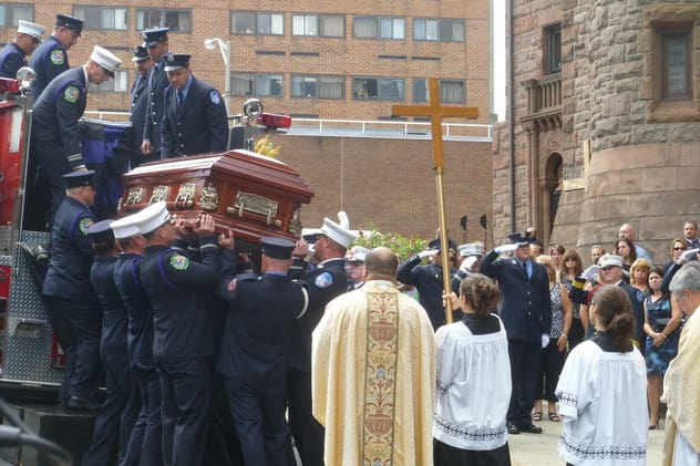 More than 1,000 family, friends and colleagues gathered in August to pay their respects to fallen Yonkers firefighter Antonio Rodriques.