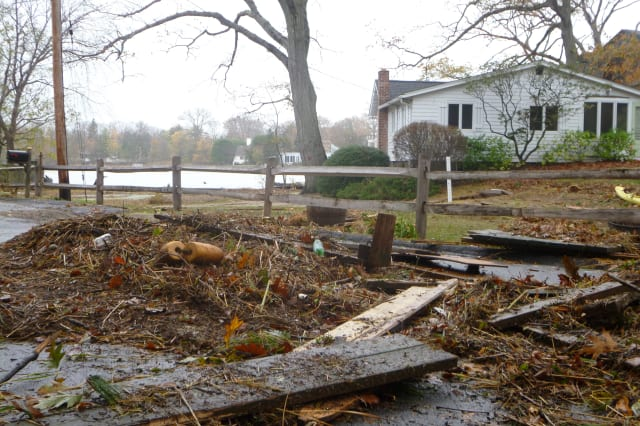 The damage caused by Hurricane Sandy is the top Greenwich story of 2012.