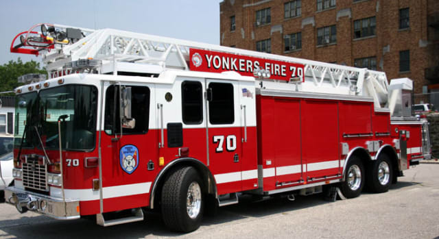 Yonkers firefighters battled a pair of Sunday morning blazes.