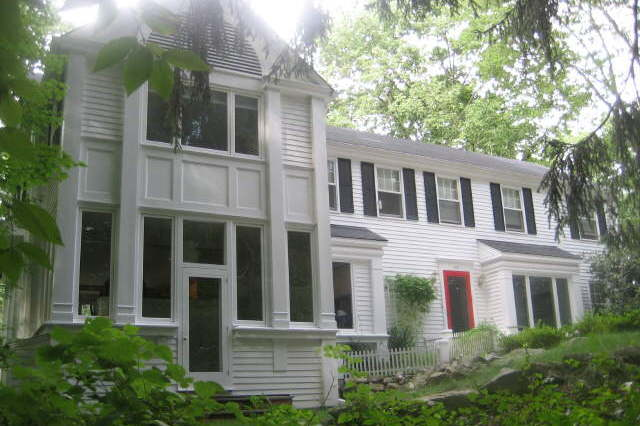 This house on Old Farm Road in Darien will have an open house Sunday from 10 a.m. to 3 p.m.