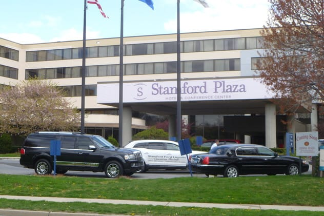 The Stamford Plaza Hotel will host a gun show this weekend, less than a month after the Newtown school shooting and after a gun show in Danbury was canceled.