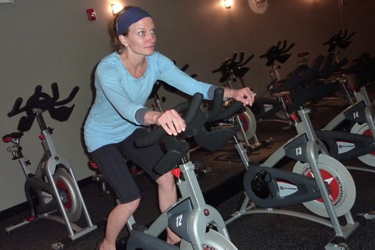 Rhodie Lorenz, co-founder of JoyRide Cycling Studio, which will be opening a Darien location this year.