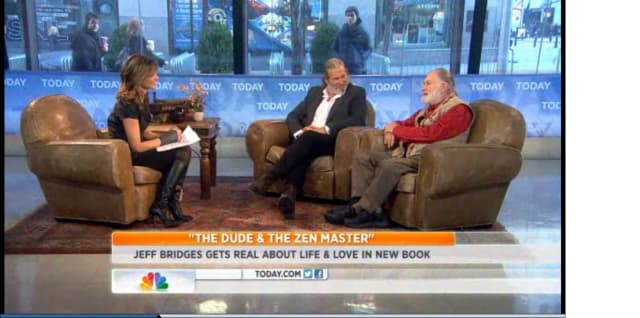 """Actor Jeff Bridges and Yonkers' Bernie Glassman talk about their book """"The Dude & The Zen Master"""" Tuesday on the """"Today"""" show."""