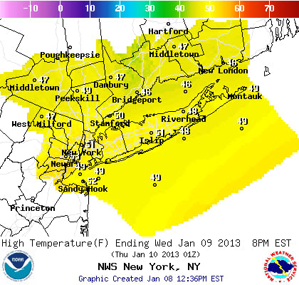Temperatures could reach 50 degrees several days this week in Westchester County.