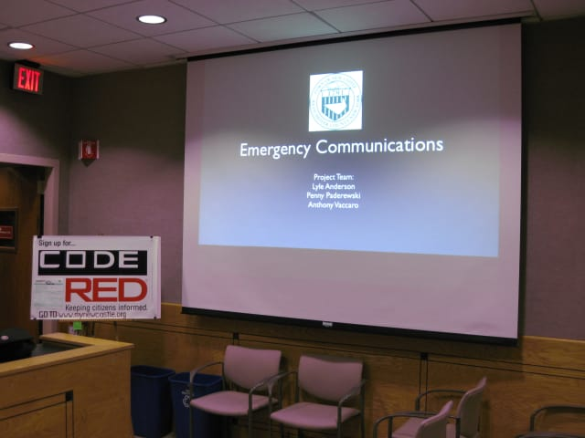 The New Castle Town Board showcased its new emergency communications plan Tuesday night at New Castle Town Hall.