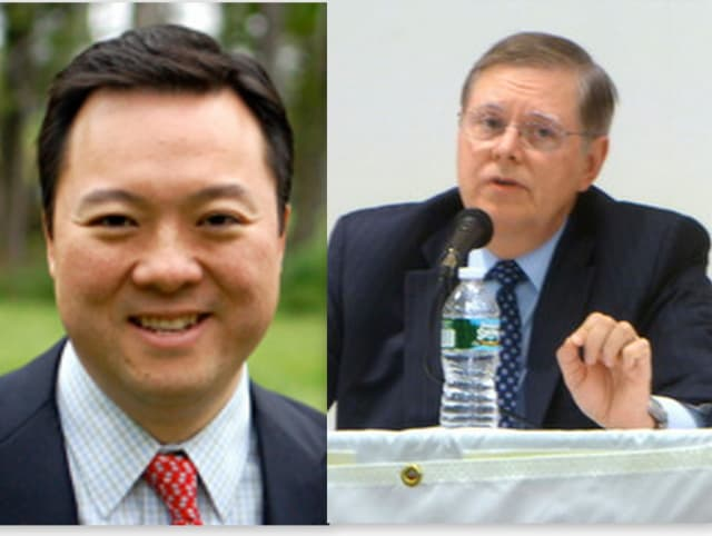 State Rep. William Tong and Board of Finance member David Martin look to be the favorites for the Democratic nomination for Stamford's mayoral race.