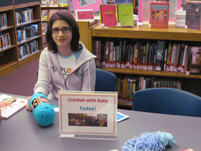 Horace Greeley junior Kate Rosenberg is sharing her passion of crochet as part of her Girl Scouts Gold Award project.