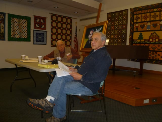 Keith Brooks (left) and Bob Gardner at December's Occupy Weston meeting.